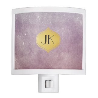 Cool and Edgy Grunge Gold Monogram Nite Light