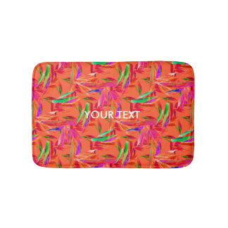 Cool and Elegant Abstract Orange Small Bath Mat