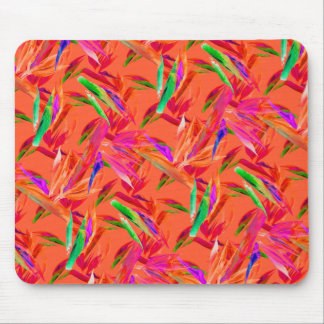 Cool and Elegant Abstract Pink Orange Mousepad