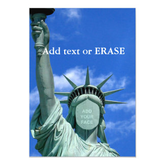Cool and fun customizable Statue of Liberty… Magnetic Invitations