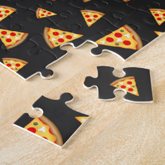 Cool and fun pizza slices pattern jigsaw puzzle