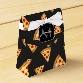 Cool and fun pizza slices pattern Monogram Favor Box
