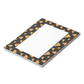 Cool and fun pizza slices pattern notepad