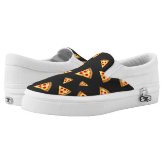 Cool and fun pizza slices pattern Slip-On sneakers