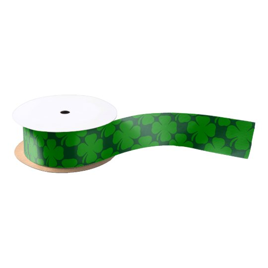 Cool and Fun saint Patrick's day Green Shamrock Satin Ribbon