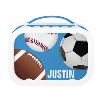 Cool and Fun Sport Theme Monogram with Name Lunch Box