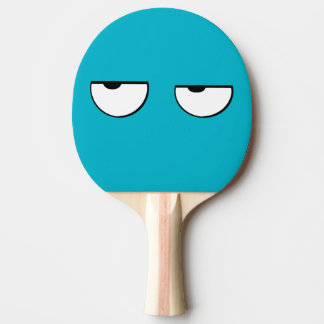 cool and funny cartoon eyes ping pong paddle