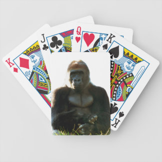 Cool and Funny Gorilla Monkey Animal Bicycle Playing Cards
