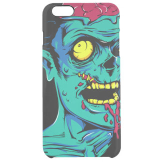 Cool and Funny Zombie Horror Face - Transparent Clear iPhone 6 Plus Case