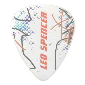cool and modern abstract polycarbonate guitar pick