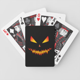 Cool and scary Jack O'Lantern face Halloween Bicycle Playing Cards
