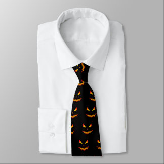 Cool and scary Jack O'Lantern face Halloween Tie