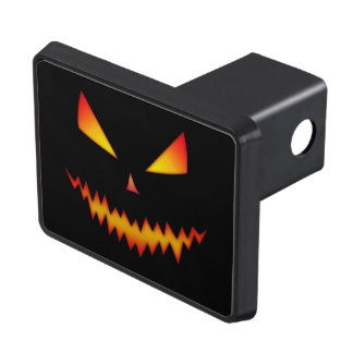 Cool and scary Jack O'Lantern face Halloween Trailer Hitch Cover