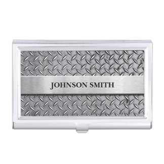Cool and Stylish Diamond Metal Plate Business Card Holders
