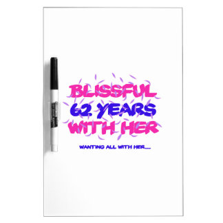Cool and trending 62nd marriage anniversary design dry erase board