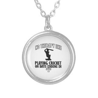 cool and trending CRICKET DESIGNS Silver Plated Necklace
