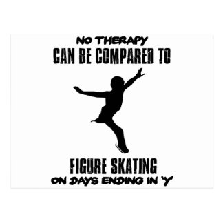 cool and trending Figure skating DESIGNS Postcard
