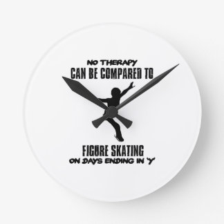 cool and trending Figure skating DESIGNS Round Clock