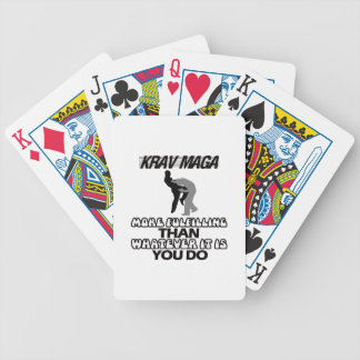 cool and trending Krav maga designs Bicycle Playing Cards