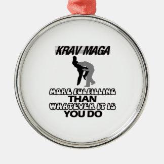 cool and trending Krav maga designs Metal Ornament