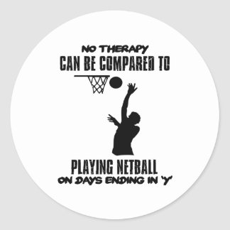 cool and trending netball DESIGNS Classic Round Sticker