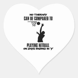 cool and trending netball DESIGNS Heart Sticker