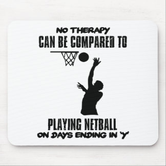 cool and trending netball DESIGNS Mouse Pad