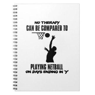 cool and trending netball DESIGNS Notebooks