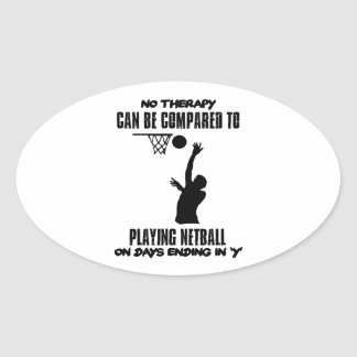 cool and trending netball DESIGNS Oval Sticker