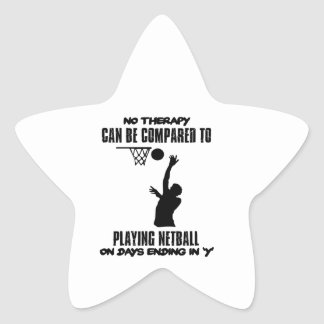cool and trending netball DESIGNS Star Sticker