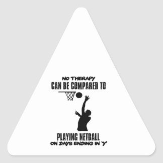cool and trending netball DESIGNS Triangle Sticker