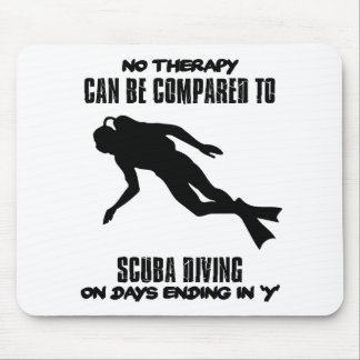 cool and trending scuba diving DESIGNS Mouse Pad