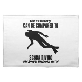 cool and trending scuba diving DESIGNS Placemat