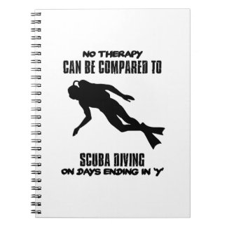 cool and trending scuba diving DESIGNS Spiral Notebook