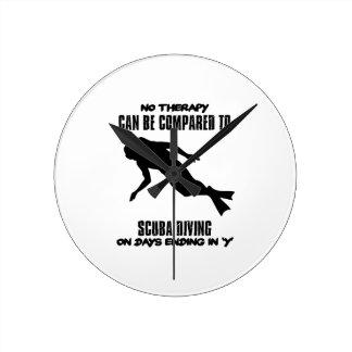 cool and trending scuba diving DESIGNS Wallclock