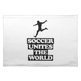 cool and trending soccer DESIGNS Placemat
