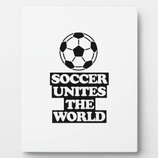 cool  and trending soccer DESIGNS Plaque