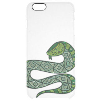 Cool and Trendy Green Fashion Snake Serpent Clear iPhone 6 Plus Case