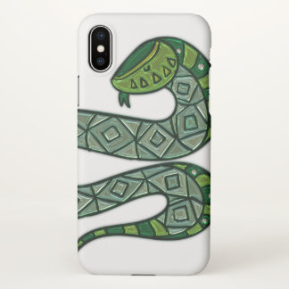 Cool and Trendy Green Fashion Snake Serpent iPhone X Case