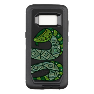 Cool and Trendy Green Fashion Snake Serpent OtterBox Defender Samsung Galaxy S8 Case