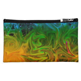 Cool and warm toned abstract bag cosmetic bags