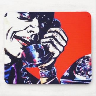 Cool Angry 1970's Retro Phone Man Mouse Mat / Pad Mouse Pad