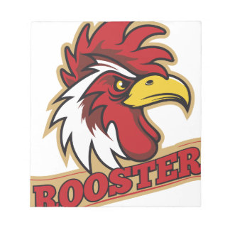 Cool Angry Rooster T-Shirt Notepad