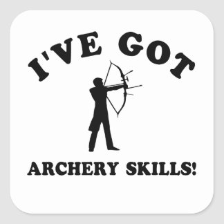 cool ARCHERY designs Square Sticker