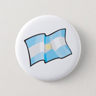 Cool Argentina Flag 2 Inch Round Button