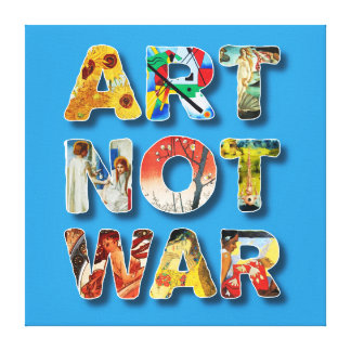 Cool Art Not War Famous Artists For Peace Funny Canvas Print