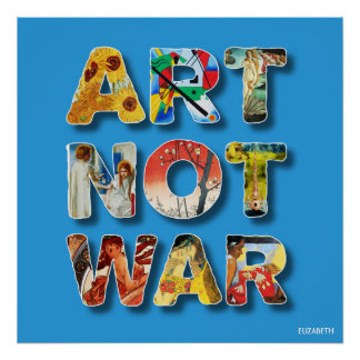 Cool Art Not War Famous Artists For Peace Funny Poster