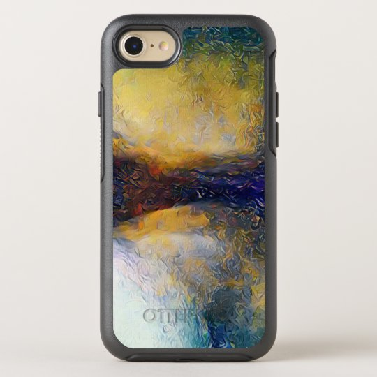 Cool Artistic Colliding Fantasy Planets OtterBox Symmetry iPhone 7 Case
