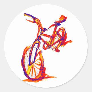 Cool Artistic Colorful Bike Designs Classic Round Sticker