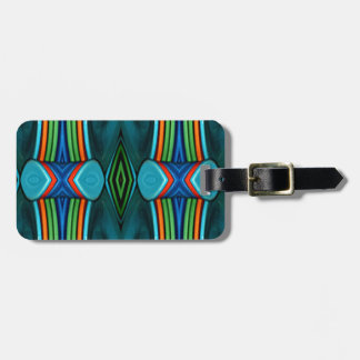 Cool Artistic Funky Symmetrical Pattern Luggage Tag